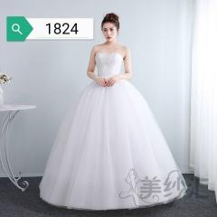新娘结婚公主抹胸齐地韩式蕾丝冬季显瘦修身女10112001824 图片色 均码