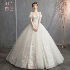唯美显瘦影楼拍照礼服馆专用款齐地婚纱W1011010219-14 图片色 均码