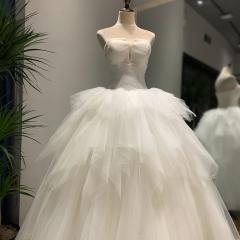 艾琳~新娘结婚当天嫁衣齐地婚纱1121-2 图片色 均码