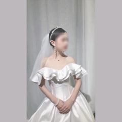 唯美显瘦影楼拍照礼服馆热销款齐地婚纱W1030380215-23 齐地婚纱 均码