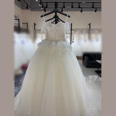 唯美显瘦影楼拍照礼服馆热销款齐地婚纱W1010380216-6 如图 均码