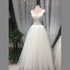 唯美显瘦影楼拍照礼服馆热销款齐地婚纱W1010380216-18 如图 均码