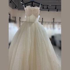 唯美显瘦影楼拍照礼服馆热销款齐地婚纱W1010380216-25 如图 均码