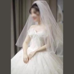 抹胸蝴蝶结款齐地婚纱拍照/仪式热销款w1010380321-1 齐地 均码