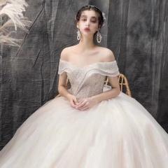 显瘦唯美新娘结婚当天嫁衣影楼拍照礼服馆热销款W1010260213-29 图片色 均码