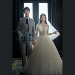 婚纱摄影工作室拍照款旅拍风单女装绑带款W101026050402 如图(单女装) 均码
