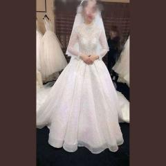 唯美显瘦影楼拍照礼服馆热销款拖尾婚纱W1030570226-9 原图 均码