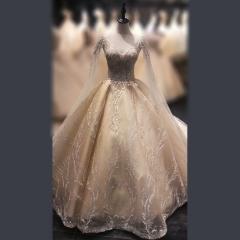 深V显瘦气质女结婚嫁衣拖尾婚纱绑带款W103072032901 图片色 均码
