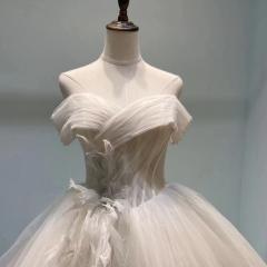 影楼工作室礼服馆新娘结婚齐地婚纱绑带款W101082050313 图片色 均码