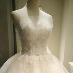 影楼工作室礼服馆贝壳款新娘结婚齐地婚纱绑带款W101082050319 图片色 均码
