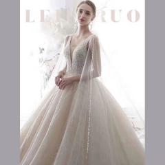 新娘结婚当天嫁衣影楼礼服馆专用款W1010820212-43 图片色 均码