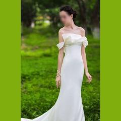 唯美显瘦影楼拍照礼服馆热销款鱼尾婚纱W1021750222-2 图片色 均码