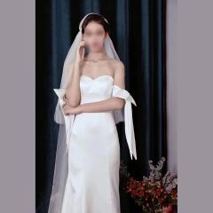 唯美显瘦影楼拍照礼服馆热销款拖尾婚纱W1021750222-3 图片色 均码