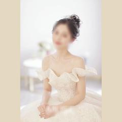唯美显瘦影楼拍照礼服馆热销款拖尾婚纱W1031700225-11 图片色 均码