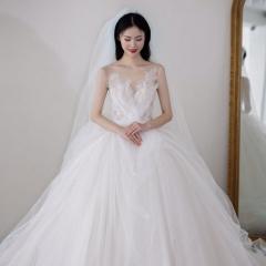 唯美优雅高级款新娘婚礼仪式纱影楼高端拍照纱W1031740515-1 图片色 均码