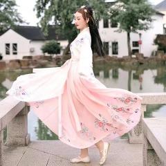 汉服女装舞蹈演出服装仙女古装公主裙古筝表演服古代5010620006 均码 图片色