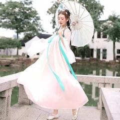 汉服女装舞蹈演出服装仙女古装公主裙古筝表演服古代5010620007 均码 图片色