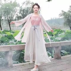 汉服女装舞蹈演出服装仙女古装公主裙古筝表演服古代5010620010 均码 图片色