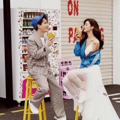 婚纱影楼工作室主题服装时尚潮流范儿情侣装W9010022-351 如图(组) 均码