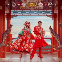 婚纱影楼工作室主题服装时尚潮流情侣装男女装W901087111410 图片色(组) 均码