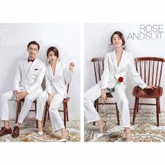 婚纱影楼工作室拍照款时尚情侣装小清新W9010022-123 如图(组) 均码