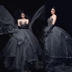 婚纱影楼工作室主题服装时尚潮流单女装旅拍风W901ASM0119-6 如图(单女装) 均码