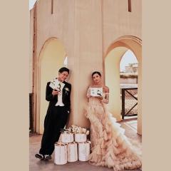 婚纱影楼工作室主题服装时尚潮流单女装旅拍风W901ASM0119-9 如图(单女装) 均码