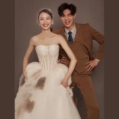 婚纱影楼工作室主题服装时尚潮流单女装旅拍风W901ASM0119-11 如图(单女装) 均码