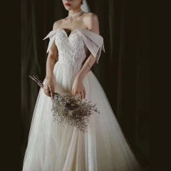婚纱影楼工作室主题服装时尚潮流单女装旅拍风W901ASM0119-14 如图(单女装) 均码