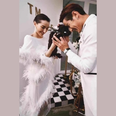 婚纱影楼工作室主题服装时尚潮流单女装旅拍风W901ASM0119-15 如图(单女装) 均码