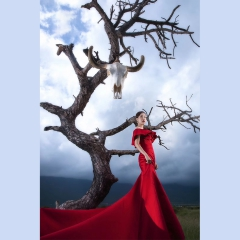 婚纱影楼工作室主题服装时尚潮流单女装旅拍风W901ASM0119-17 如图(单女装) 均码