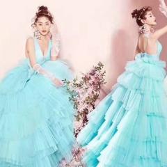婚纱影楼工作室主题服装时尚潮流单女装旅拍风W901ASM0119-18 如图(单女装) 均码