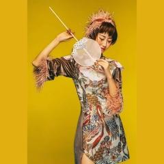 时尚复古影楼拍照男女套装新中式情侣装W9010020331-9 如图(组) 均码