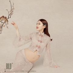 中国风露肚影楼拍照主题写真孕妇装W90300233059 图片色 均码