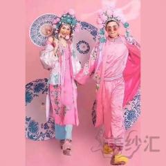 影楼工作室拍照款国潮风男女套装情侣服W9010141220-1 如图(组) 均码
