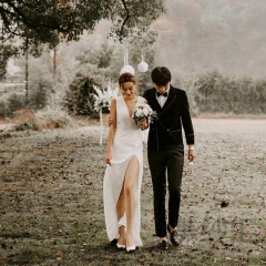 婚纱摄影工作室拍照款旅拍风单女装双肩W901011g-2703 如图(单女装) 均码