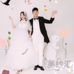 婚纱摄影拍照款旅拍风单女装翻领纱袖W901011g-2705 如图(单女装) 均码