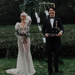 婚纱摄影工作室拍照款旅拍风单女装长袖W901011g-2706 如图(单女装) 均码