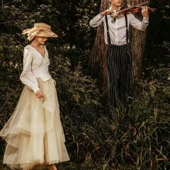 婚纱摄影工作室拍照款旅拍风单女装长袖V领W901011g-2719 如图(单女装) 均码