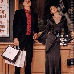 婚纱摄影拍照款旅拍风单女装长袖V领黑色W901011g-2711 如图(单女装) 均码