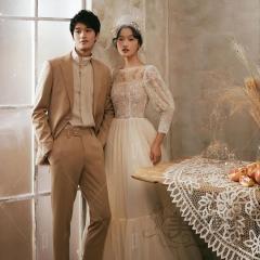 婚纱摄影拍照款旅拍风单女装九分袖显瘦W901011g-2720 如图(单女装) 均码