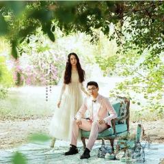 婚纱摄影工作室旅拍风单女装长纱袖莫奈花园W9010111221-2 如图(单女装) 均码