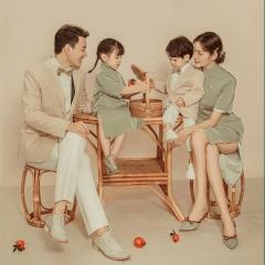 全家福摄影服装主题一家四口家庭装拍照合影W9050230116-2 如图 均码