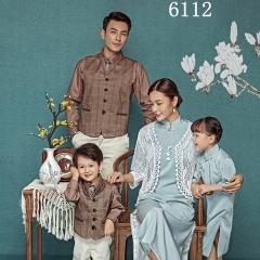 全家福摄影服装主题一家四口家庭装拍照合影W9050230116-3 如图 均码