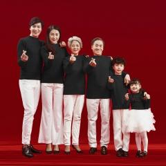 全家福摄影服装主题一家六口家庭装拍照合影W9050230116-4 如图 均码