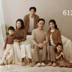 全家福摄影服装主题一家六口家庭装拍照合影W9050230116-5 如图 均码