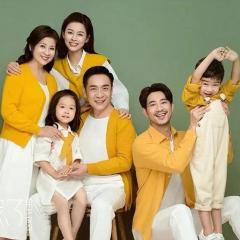 全家福摄影服装主题一家六口家庭装拍照合影W9050230116-6 如图 均码