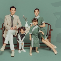 全家福摄影服装主题一家四口家庭装拍照合影W9050230116-7 如图 均码