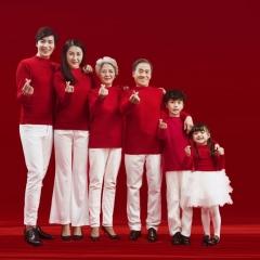 全家福摄影服装主题一家六口家庭装拍照合影W9050230116-8 如图 均码