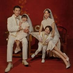 全家福摄影服装主题一家四口家庭装拍照合影W9050230116-9 如图 均码